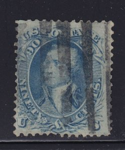 72 F-VF used neat bar cancel with nice color cv $ 600 ! see pic !