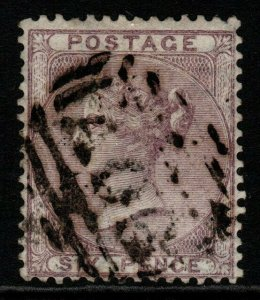GB USED ABROAD IN BRITISH HONDURAS SGZ3 1858 6d LILAC USED