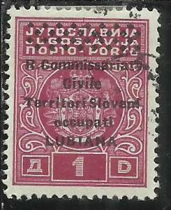 OCCUPAZIONE ITALIANA LUBIANA 1941 TASSE TAXES SEGNATASSE POSTAGE DUE COMMISSA...
