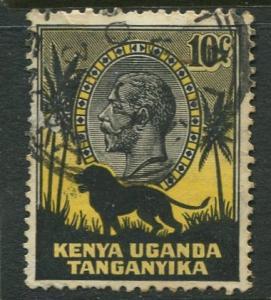 Kenya & Uganda - Scott 48- KGV Definitive -1935 - FU - Single 10c Stamp