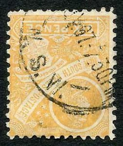 NSW SG358 6d Orange-buff Wmk Double A Inverted Used Cat 50 pounds