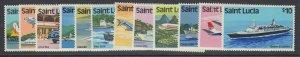 St. Lucia, Scott 504-515, MNH