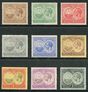 Bermuda SG59/67 1920 Tercentenary set of 9 (6d light toneing) M/Mint