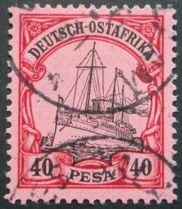German East Africa 1901 Forty Pesa with DAR ES SALAAM postmark
