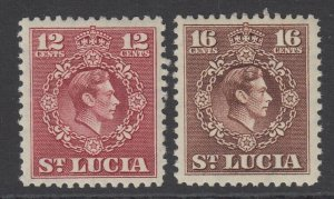 St. Lucia, Scott 142-143 (SG 153-154), MLH