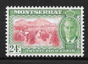 Montserrat 122: 24c Picking Tomatoes, MH, F-VF
