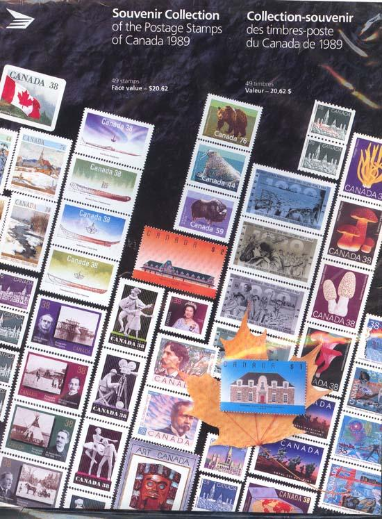 Souvenir Collection The Postage Stamps of Canada 1989
