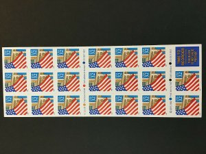 1995 Booklet of 20 Flag Over Porch Self-adhesive stamps Sc# 2920a