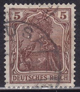 Germany 118 USED 1920 Deutsches Reich 5Pf