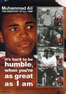 Palau Boxing Stamps 2008 MNH Muhammad Famous People Sports 4v M/S II