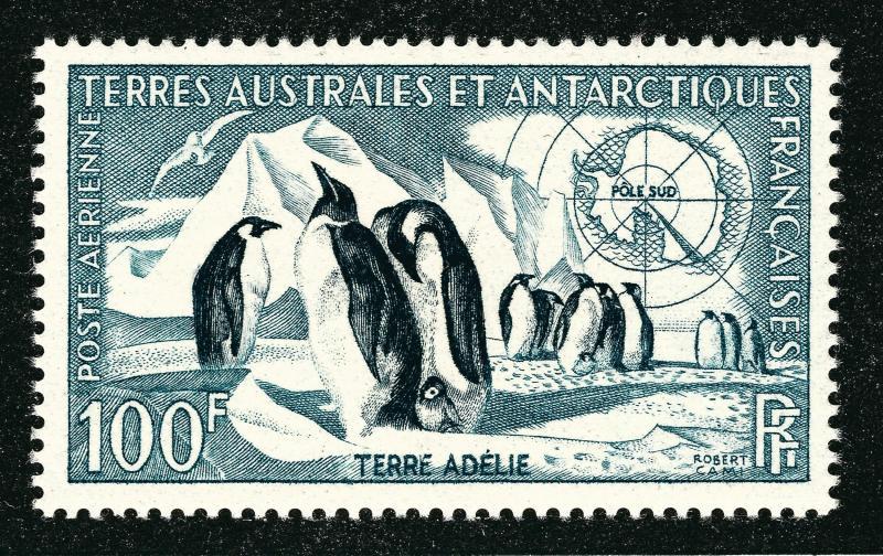FSAT Antarctic Emperor Penguins issue (Scott C2) VF MH Cat $35...Premier!