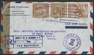 SALVADOR 1944 censor cover to USA..........................................27429