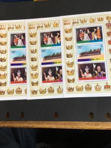 Tuvalu 1977 Souvenir Sheet (3) VF-NH #45a Scott 2015 Cat.$19.50 25th Anniv.Reign