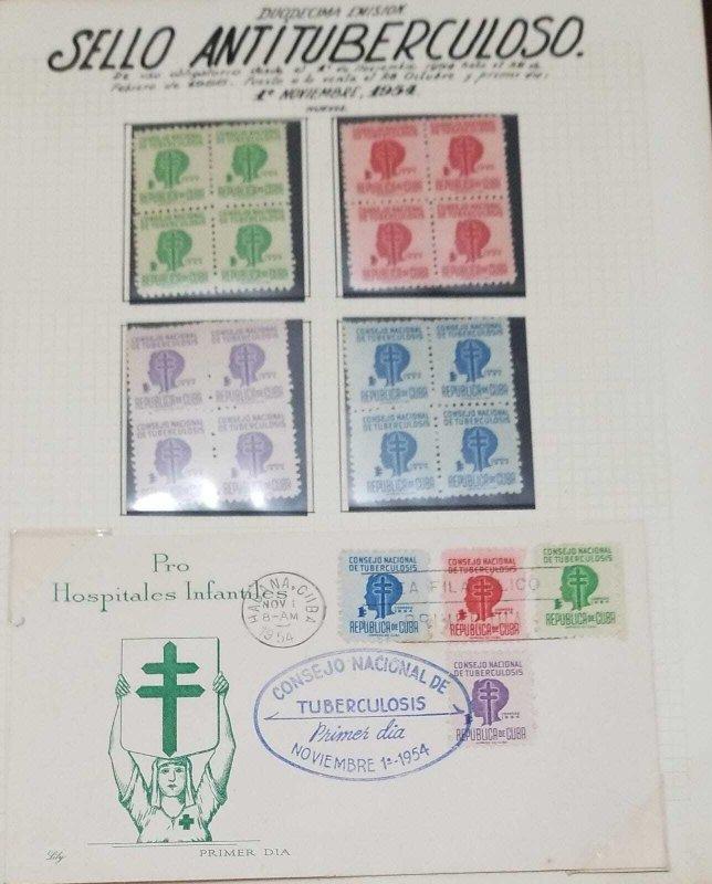 O) 1954 cuba, caribbean, tuberculosis, child´s head, the tax benefited the n...