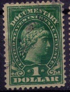 US Sc #R217  USED $1 REVENUE STAMP (1914) F-VF