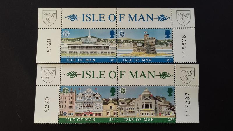 Isle of Man 1987 EUROPA Stamps - Modern Architecture Mint