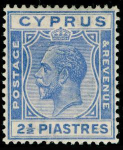 CYPRUS SG122, 2½pi brt blue, LH MINT.