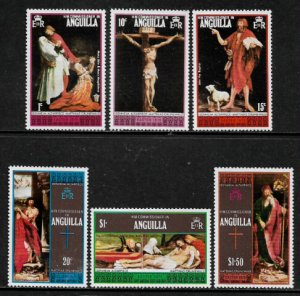 Anguilla #211-6 MNH Set - Easter Paintings