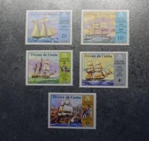 TRISTAN DA CUNHA  Stamps   ships   MNH  1971    ~~L@@K~~