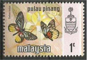 PENANG, 1971, MNH 1c, Butterfly Scott 74
