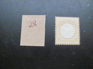 GERMANY 1872 HINGED MI.NR. 28 LARGE SHIELD SINGLE