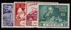 ST KITTS-NEVIS GVI SG82-85, anniversary of UPU set, M MINT.