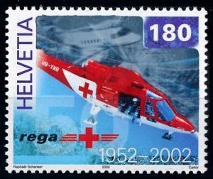 [68776] Switzerland 2002 Red Cross Air Ambulance Helicopter Hologram  MNH