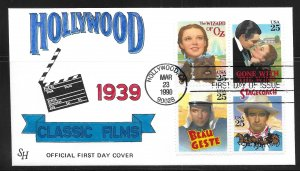 USA 2448a Classic Films Steve Harkness First Day Cover FDC (z5)