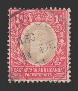 BRITISH EAST AFRICA AND UGANDA STAMP. YEAR 1903. SCOTT # 2. USED