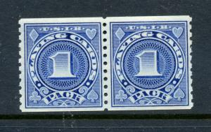 Scott #RF26A Playing Cards Revenue Mint Coil Pair of 2 Stamps NH (Stock RF26A-4)