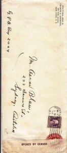 1915, New York City, NY to Sydney, Australia, Censored, See Remark (C3462)