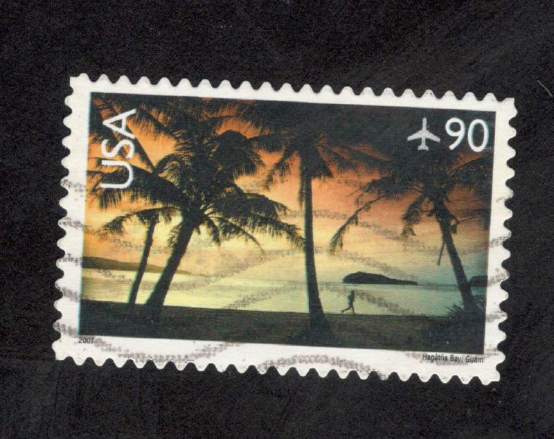 C143 Hagatna Bay, Guam US Single Used Off Paper (free shipping offer)