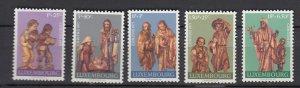 J25857  jlstamps 1971 luxembourg set mnh #b282-6 christmas
