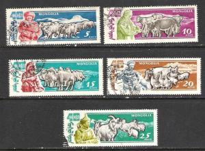 MONGOLIA 243-47 VFU FAUNA 949B