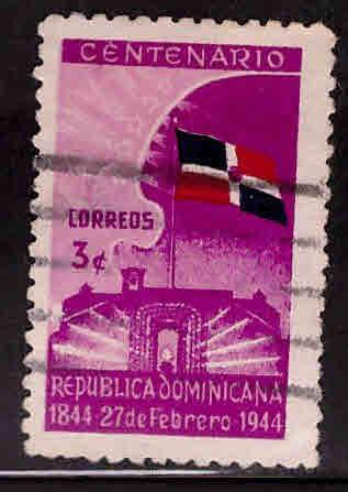 Dominican Republic Scott 401 used flag stamp