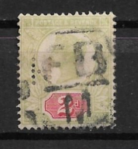 1887 GREAT BRITAIN #113 used 2d Victoria with HJ perfin