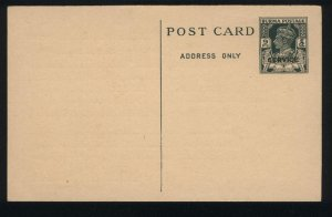 BURMA POSTCARD 1946 ISSUED 6P SERVICE KGVI STATIONARY CARD NEW
