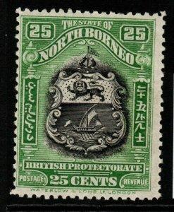 NORTH BORNEO SG289 1925 25c BLACK & GREEN MTD MINT