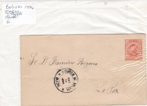 bolivia early stamps cover Ref 9715