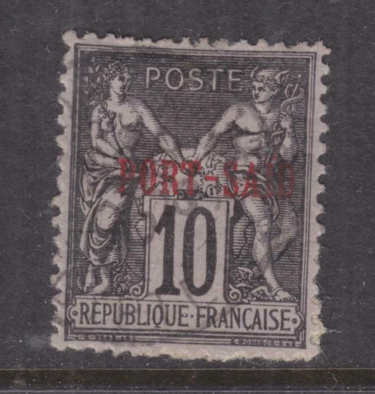 FRENCH PO EGYPT, PORT SAID, 1899 10c. Black on Lilac, Type B, used.