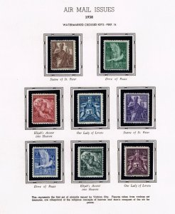 ITALY VATICAN CITY STAMP 1938 AIR MAIL MH/OG STAMPS LOT