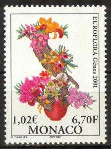 Monaco 2001 Flowers EUROFLORA '01 MNH**