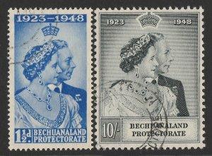 BECHUANALAND 1948 KGVI Silver Wedding set 1½d & 10/-.