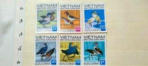 VIETNAM 1972 BIRDS IN FINE MINT CONDITION.