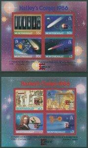 Montserrat 1986 SG690 Halleys Comet MS MNH