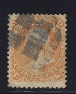 100 F-VF scarce F grill with neat cancel used nice color cv $ 900 ! see pic !