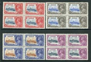 Swaziland 1935 Silver Jubilee SG21/4 Fine Used BLOCKS OF 4