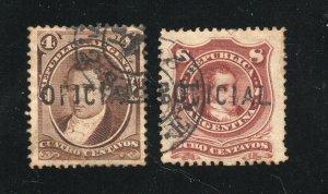 Argentina - Sc# O25 && O26 Used    -     Lot 0320022