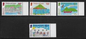 Tristan da Cunha 1161-64 Children's Art set MNH (lib)