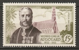 French Equatorial Africa 1952 Sc C36 air post MLH*
